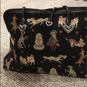 Vintage Brighton tapestry dog bag